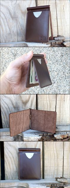 Just in time for dads and grads! This handcrafted personalized money clip wallet is a perfect gift for Father's Day or a gentleman's graduation.