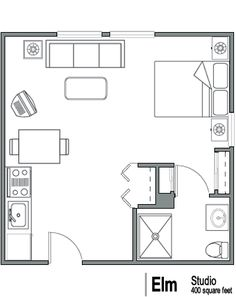 400 square foot apartment Google Search CottageTiny Home