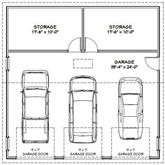 Average 2 car garage dimensions chicagoland garage for What is the average size of a two car garage