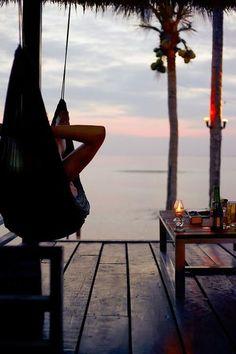 Quiet time in paradise