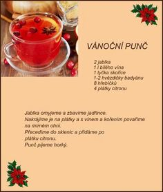 Punc Cocktail Drinks, Cold Drinks, Beverages, Christmas Baking, Christmas Cookies, Pies Art, Baking Recipes, Smoothies, Food And Drink