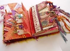 Textile Tag Book Journal made by Jill Amanda Kennedy