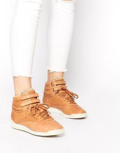 3a7232e1439e9f Reebok Freestyle Horween High Top Sneakers