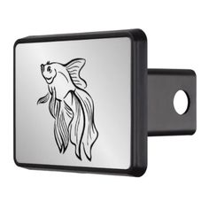 #fishing - #Siamese Fighting Fish Trailer Hitch Cover