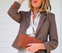 Love this tiny tweed blazer.