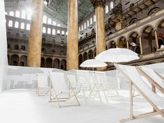 """The Beach"": interactive installation by Snarkitecture."