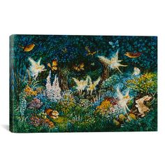 Shop Wayfair for iCanvas Decorative Art 'Forest Fairies' by Bill Bell Painting Print on Canvas - Great Deals on all Office products with the best selection to choose from!