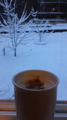 """From Shana Russell on Facebook:     """"Just enjoying my big train chai while I wait for our office to open due to the winter storm. Thanks Big Train!"""""""