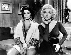 Jane Russell and Marilyn Monroe in Gentlemen Prefer Blondes in 1953