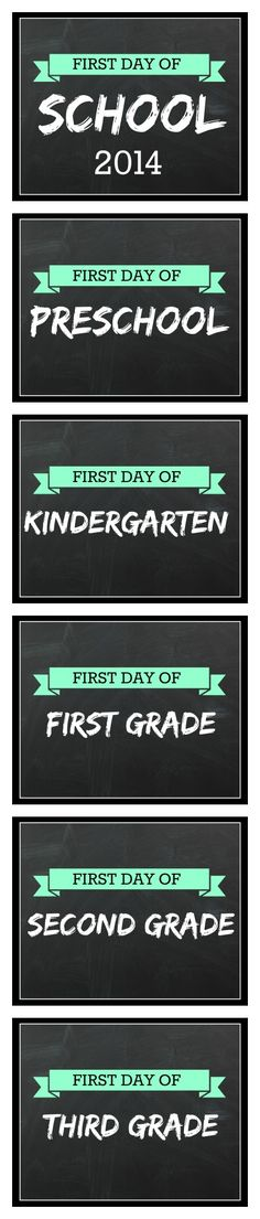 Printable First Day of School Signs for Back to School - These are completely Free, No Email Sign Up Required, great for Taking First Day of School Photos! Download on http://passionforsavings.com