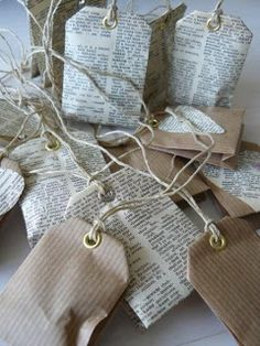 Create Tea Bag Sachets out of interesting paper, add lavender or star anise seed.