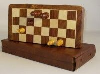 14 in. Folding wood Magnetic Chess Set