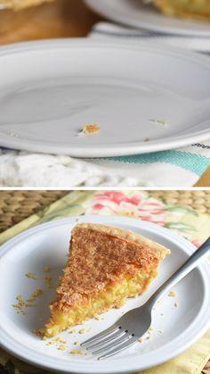 Coconut Pie Recipe Easy, Easy Pie Recipes, Cream Pie Recipes, Coconut Recipes, Fruit Recipes, Dessert Recipes, Cooking Recipes, Desserts, Impossible Coconut Pie