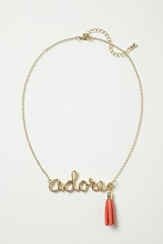 Adore Necklace #anthropologie