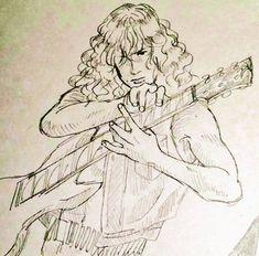 Art Inspiration Drawing, Art Inspo, Drawing Sketches, Art Drawings, Dave Mustaine, Thrash Metal, Art Sketchbook, Rock Art, Metal Art