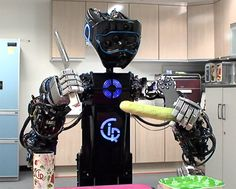 This is CIROS, a household service robot from the Korean Institute of Science and Technology