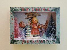 Vintage Christmas Ornament Shadow Box