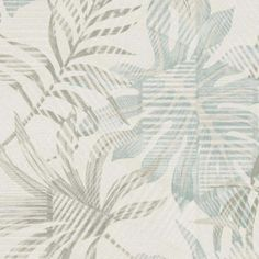 Yes you can believe it with this hybrid design that includes a modern pattern with a botanical backdrop in off-white.