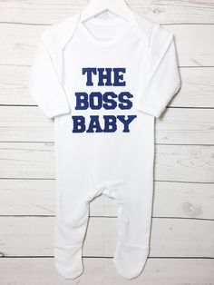 59f1f4bf1d68e Items similar to Boss Baby Cotton Sleepsuit Romper Babygrow