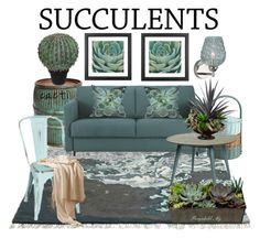 """Cacti + Succulents"" by ragnh-mjos ❤ liked on Polyvore featuring interior, interiors, interior design, home, home decor, interior decorating, Pier 1 Imports, Dot & Bo, Abigail Ahern and Heathfield & Co."