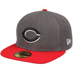 Cincinnati Reds New Era Shader Melt 2 59FIFTY Fitted Hat - Charcoal/Red