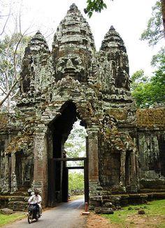 Everyone has to see this. Its amazing.  Angkor Thom Gate, Angkor, Cambodia
