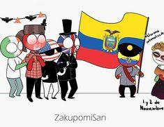 Solo observa y disfruta :3  Derechos a sus respectivos creadores y ar… #detodo # De Todo # amreading # books # wattpad Hetalia, Ecuador, Mundo Comic, Country Art, Funny Relatable Memes, Poses, My Childhood, Panama, Chibi
