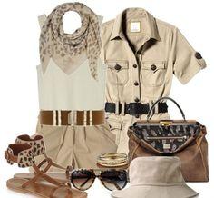 Safari Outfit Women, Safari Outfits, Chic Outfits, Fashion Outfits, Womens Fashion, Safari Clothes, New Safari, Vintage Safari, Aesthetic Clothes