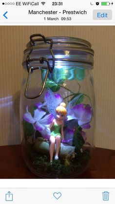 Fairy in a Jar with nightlight