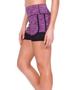 The TLF™ Deuces Shorts is a high-waist short, consisting of two layers. The double layer style gives you a mid thigh length with a cute athletic look. This stylish short is very functional and comfortable for your favorite activity or just to run errands in.