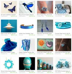 Have fun with different shade of blue and enjoy the Blue Mood