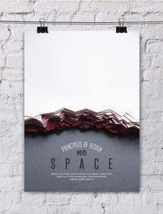 Os 10 princípios do Design em uma série de posteres em 'paper art' | Ideia Quente
