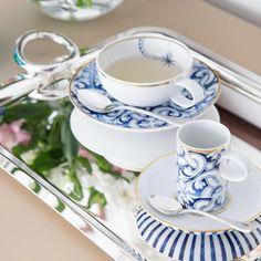 Chá ou café com a louça Transatlântica Vista Alegre