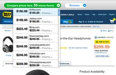 This is  a browser extension that enables you to see the best prices on a item at a glance  ShopGenius