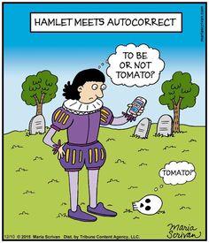 Hamlet meets autocorrect
