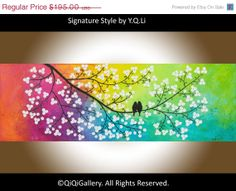 Art Abstract Painting Landscape Painting Original by QiQiGallery, $156.00