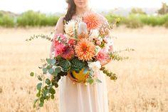 Modern, rustic wedding inspiration   Photo by Megan Tsang Photography   Read more  -  http://www.100layercake.com/blog/?p=66470