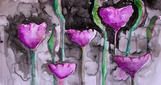 The Hoarder's Art Room: Inky Flowers