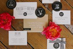 Hochzeitsdekoration mit schwarz weißem Streifendesign   Friedatheres