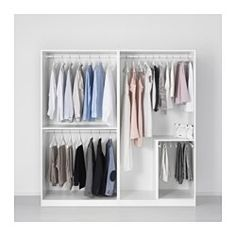 "IKEA - PAX, Wardrobe, 78 3/4x22 7/8x79 1/4 "", , 10-year Limited Warranty. Read about the terms in the Limited Warranty brochure.You can easily adapt this ready-made PAX/KOMPLEMENT combination to suit your needs and taste using the PAX planning tool.If you want to organize inside you can complement with interior organizers from the KOMPLEMENT series.Adjustable feet make it possible to compensate for any irregularities in the floor."