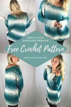 Crochet sweater, crochet sweater pattern, sweater pattern
