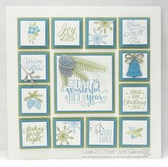 "It's a great idea to have a 12"" x 12"" frame not just for scrapbook pages but also for samplers. You can make one for each season and/or ho..."