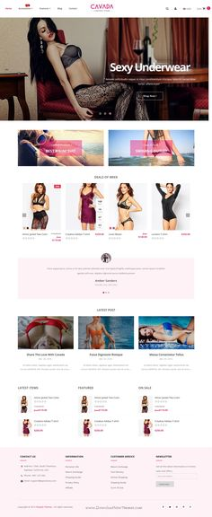 Cavada is modern and elegant design responsive 8 in 1 #Shopify Theme for multipurpose eCommerce website. #underwear #lingerie #bra #shop Download Now!