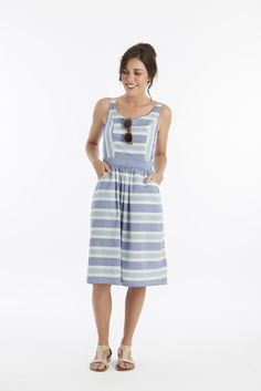 free pattern (sewing school, how I love thee) for this interesting dress