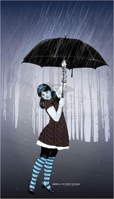 Umbrella - vector illustration art