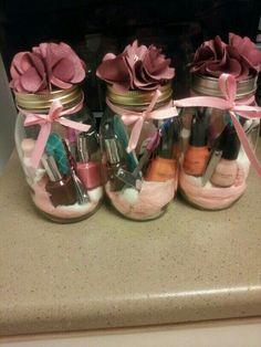Cute nail spa in a jar gift