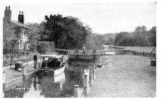 Cleeve Lock River Bridge Boat Bateau | eBay