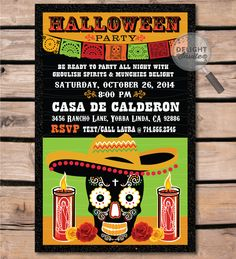 8 best day of the dead dia de los muertos halloween invitations day of the dead halloween invitation di 10412 custom invitations and announcements m4hsunfo