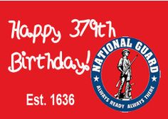https://flic.kr/p/BVxU3Z   2015-365 Challenge   Day 344 of 365 - Today, December 19th is the US National Guard's Birthday. National Guard celebrates its' 379th birthday. It was created on this day in 1636 when the Massachusetts General Court mandated that all able-bodied men between 16 and 60 were required to join the Militia. It has since grown into a huge military force that is still firmly rooted in the community it has served for so long.  Thank you for being there!