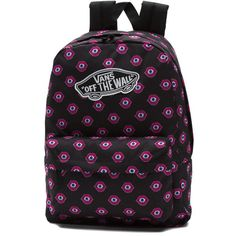 Vans Realm Backpack (140 PLN) ❤ liked on Polyvore featuring bags, backpacks, pink, rucksack bags, lining bag, pocket backpack, pocket bag and vans rucksack